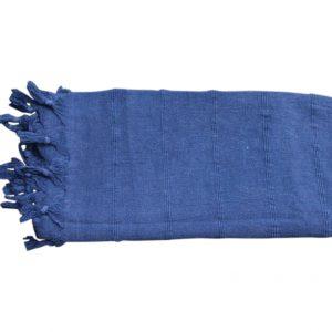 verwassen hamamdoek donkerblauw zwart 165cm x 85cm