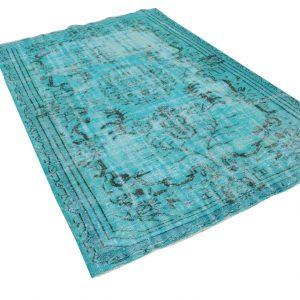 Vintage vloerkleed, blauw, 276cm x 172cm