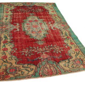 vintage vloerkleed rood 278cm x 182cm