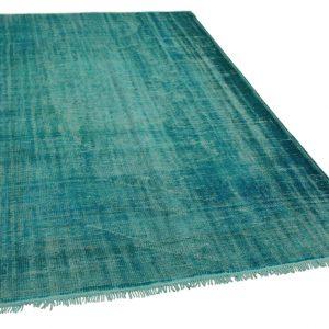 vintage vloerkleed blauw 300cm x 184cm