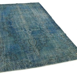 vintage vloerkleed blauw 285cm x 164cm