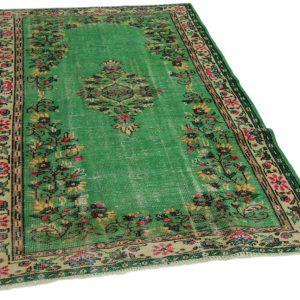 vintage vloerkleed groen 260cm x 147cm