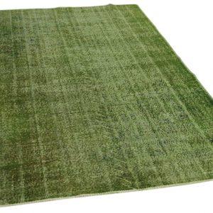 vintage vloerkleed groen 262cm x 176cm