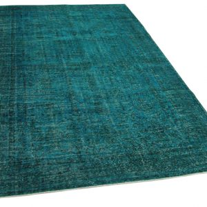 vintage vloerkleed blauw 294cm x 190cm