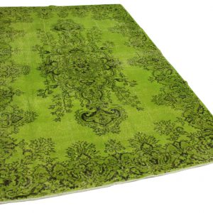 vintage vloerkleed groen 292cm x 192cm