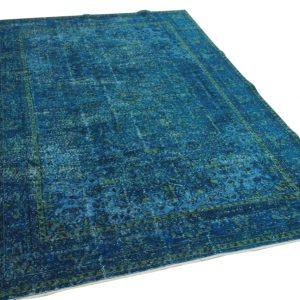 vintage vloerkleed blauw 292cm x 190cm