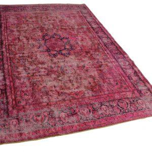 roze vintage vloerkleed 405cm x 284cm