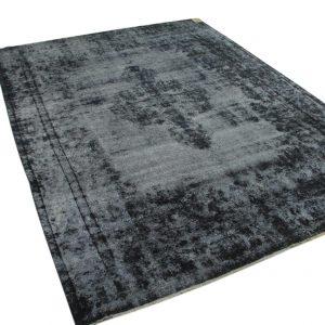 vintage vloerkleed zwart 380cm x 280cm