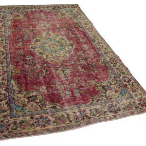 vintage vloerkleed rood 277cm x 172cm
