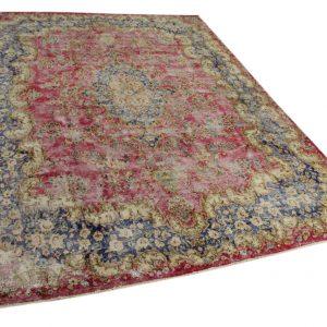 vloerkleed vintage, rood, donkerblauw 398cm x 294cm