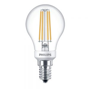Philips Classic LEDlustre E14 P45 5W 827 Helder   Dimbaar - Vervangt 40W