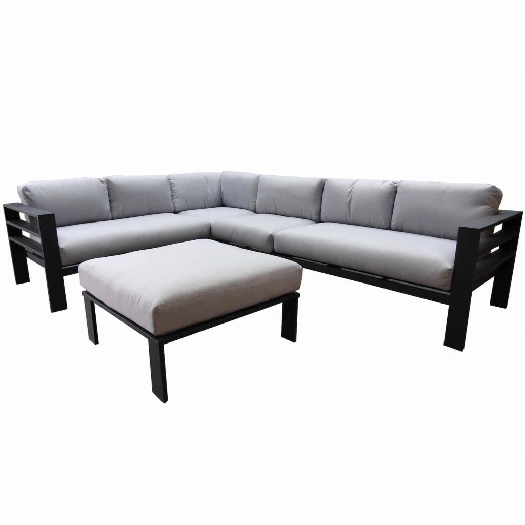 Almeria hoek loungeset 5-delig aluminium antraciet