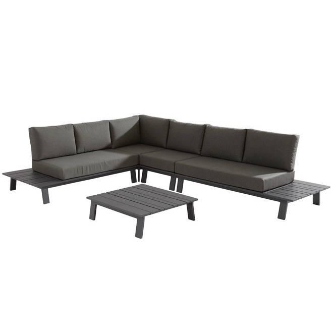 Sofia hoek loungeset 5-delig antraciet aluminium Taste 4SO