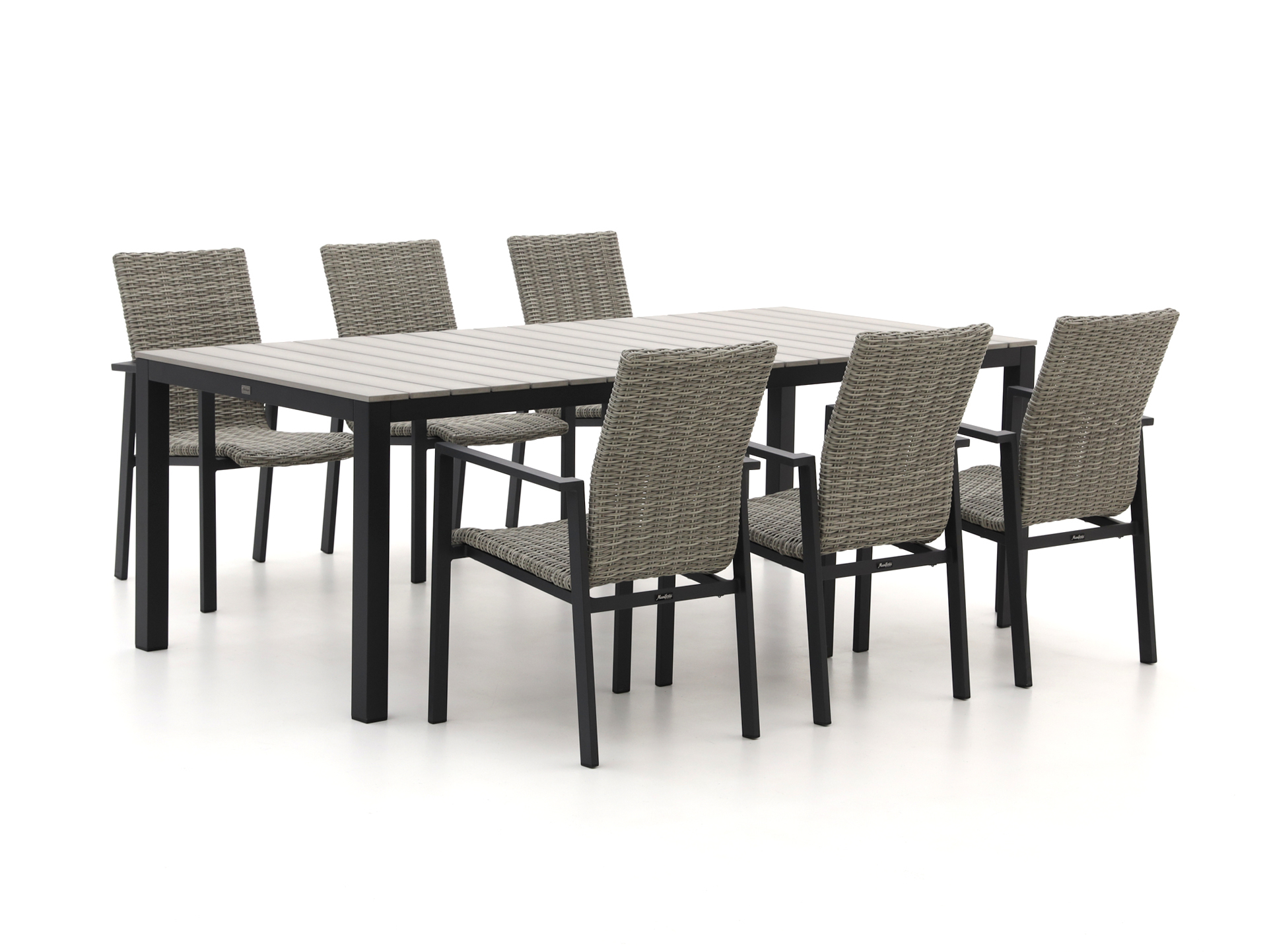 Manifesto Villongo/Fidenza 220cm dining tuinset 7-delig stapelbaar - Laagste prijsgarantie!