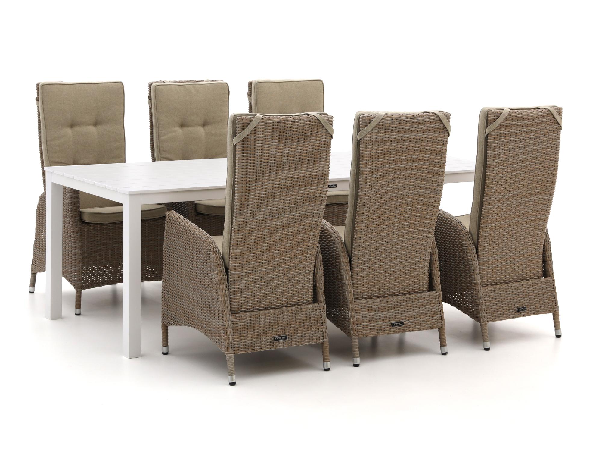 Intenso Fabrizi/Menzano 220cm dining tuinset 7-delig verstelbaar - Laagste prijsgarantie!