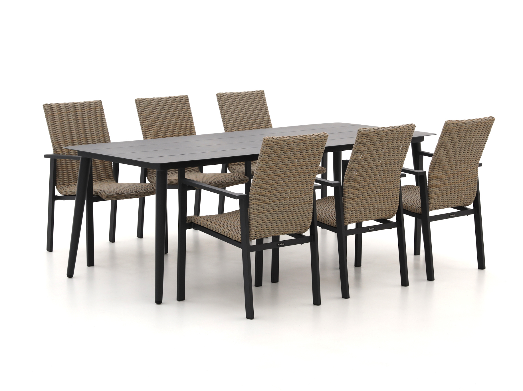 Manifesto Villongo/Sora 220cm dining tuinset 7-delig stapelbaar - Laagste prijsgarantie!