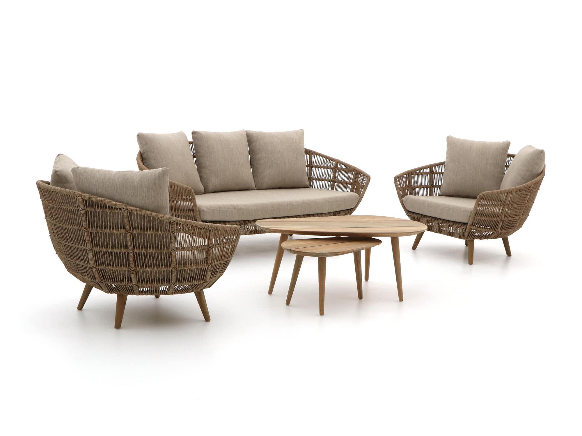 Intenso Stila/ROUGH-K stoel-bank loungeset 5-delig - Laagste prijsgarantie!