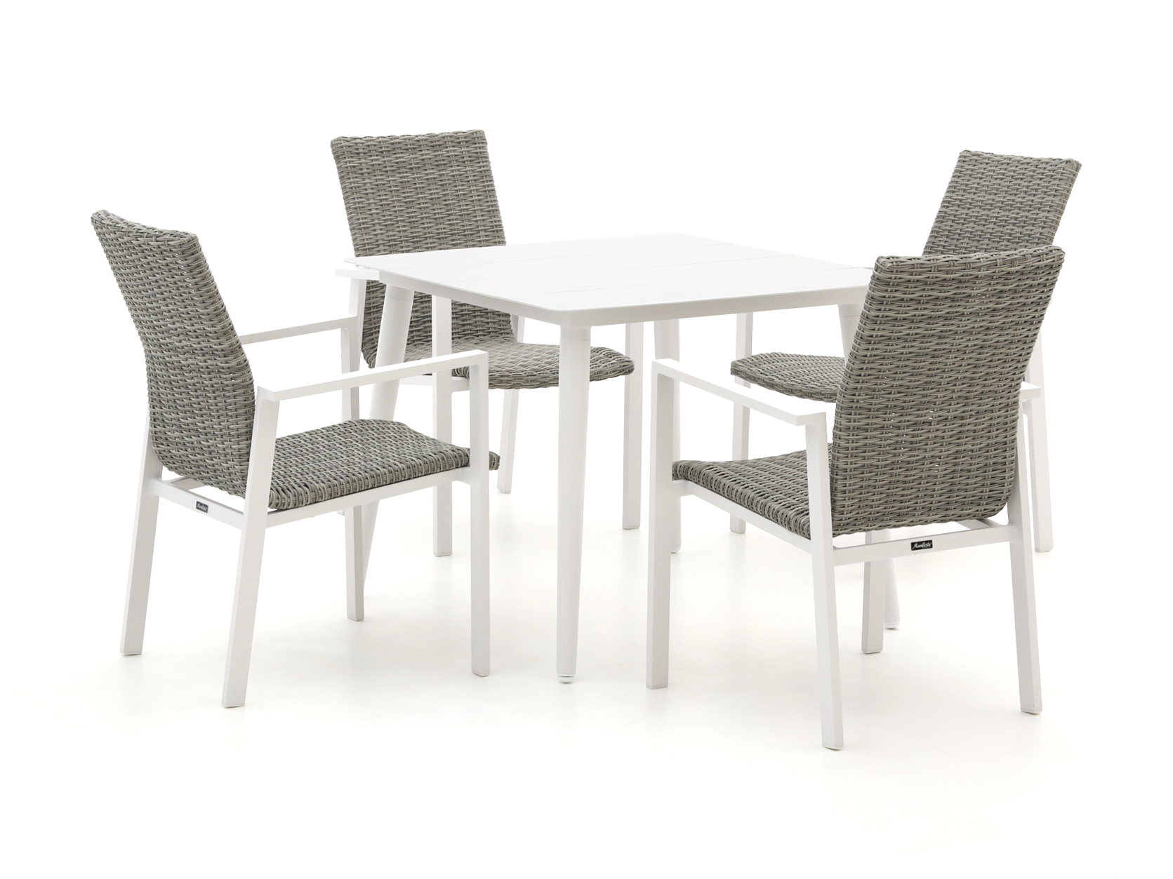 Manifesto Villongo/Sora 90cm dining tuinset 5-delig stapelbaar - Laagste prijsgarantie!