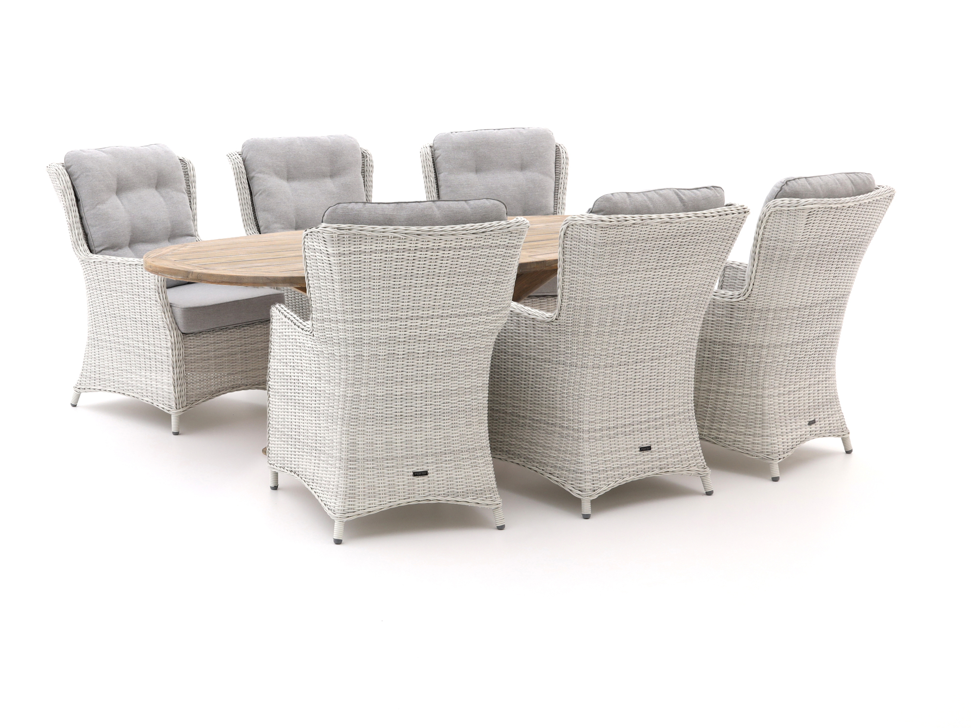 Intenso Milano/ROUGH-Y Ellips 240cm lounge-dining tuinset 7-delig - Laagste prijsgarantie!