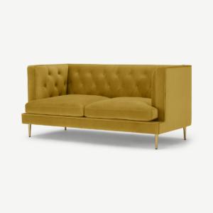 Goswell 2-zitsbank, vintage goud fluweel