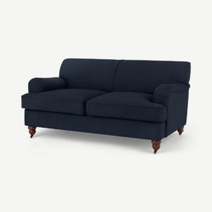Orson 2-zitsbank, donkerblauw textuurgeweven