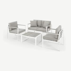 Catania loungeset voor buiten, wit en polywood