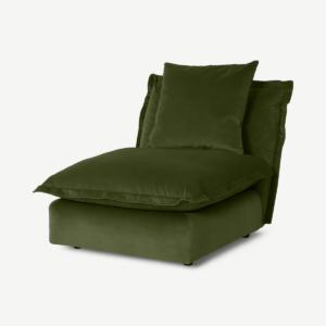 Fernsby modulaire stoel zonder armleuningen, mosgroen gerecycled fluweel