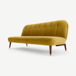 Margot klik-klakslaapbank, vintage goud fluweel