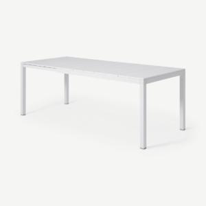 Nardi uittrekbare tuintafel voor 6-8 personen, wit aluminium