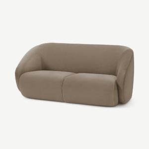 Blanca 2 Seater Sofa, Soft Mink Velvet
