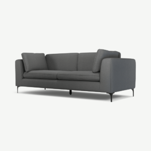 Monterosso 3-zitsbank, elite grijs met zwarte poten