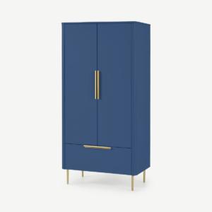Ebro dubbele kledingkast, blauw